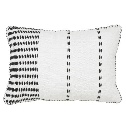Rapee Black Ludo Cotton Cushion