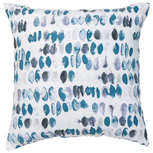 Rapee Teal Messina Linen-Blend Cushion