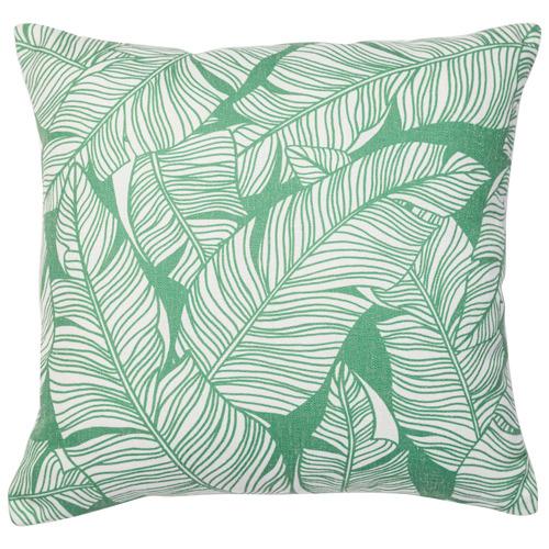 Rapee Leaf Printed Avolo Linen-Blend Cushion