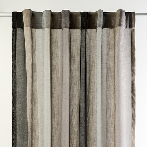 Charles Parsons Interiors Torino Pewter Concealed Tab Top Sheer Curtain