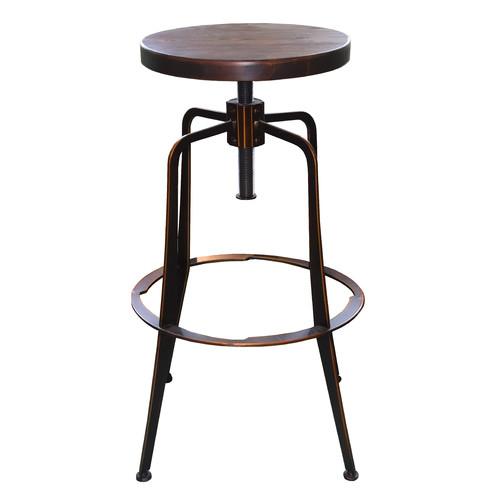 Remarkable Adjustable Chicago Industrial Barstool Andrewgaddart Wooden Chair Designs For Living Room Andrewgaddartcom