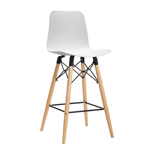 White Miyagi High Back Barstool Temple Webster
