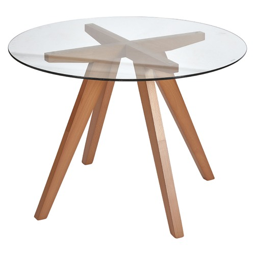 Oslo Home Beech Hjordis Scandi Dining Table
