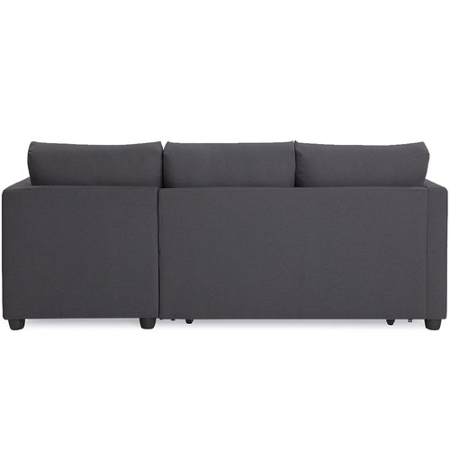 Oslo Home Dark Grey Berlin 3 Seater Storage Sofa Bed