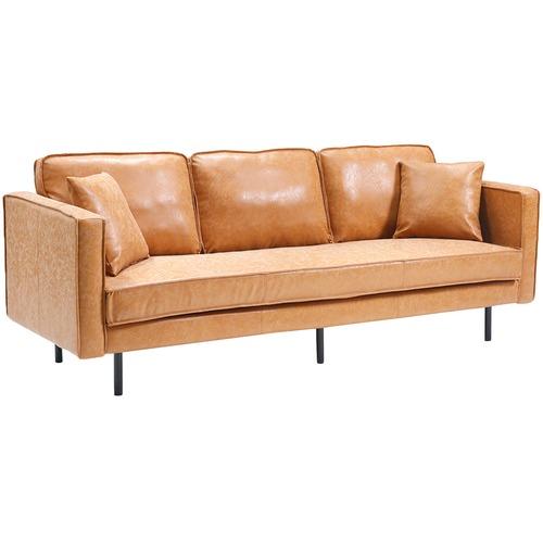 Oslo Home Verona 3 Seater Faux Leather Sofa