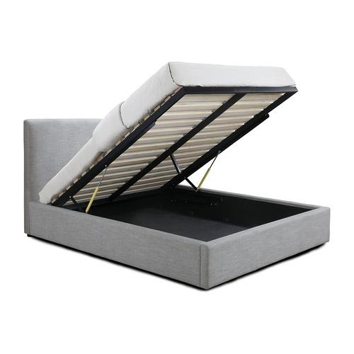 Oslo Home Light Grey Austrio Gas Lift Queen Bed
