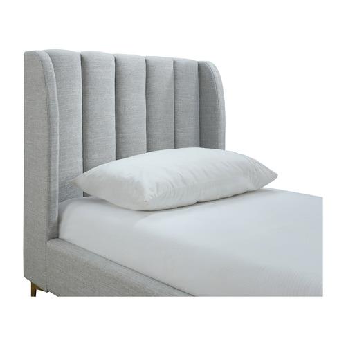 Oslo Home Light Grey Lizbeth Single Bed Frame