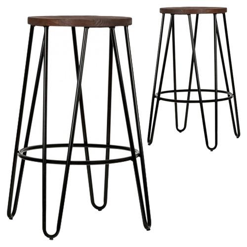 Incredible Black Benson Metal Counter Stool Set Of 2 Pdpeps Interior Chair Design Pdpepsorg
