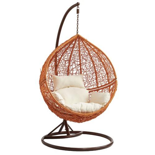 Vibrant Living Light Brown Hanging Ball Chair