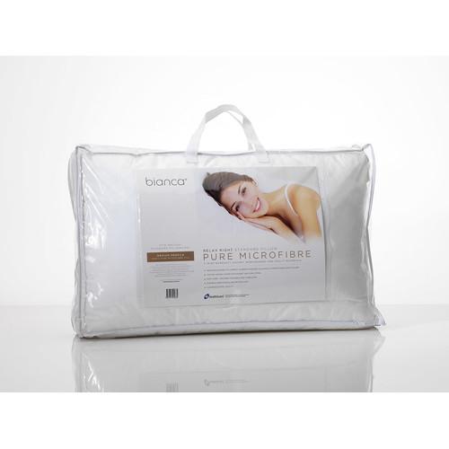 Bianca Relax Right Pure Microfibre Pillow Medium Profile 1000g
