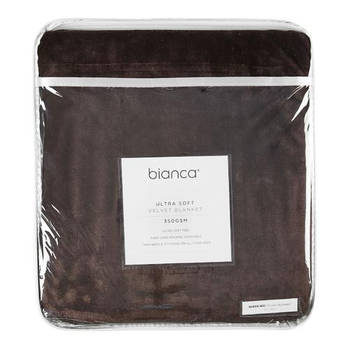 Bianca Chocolate Ultra Soft Velvet Blanket