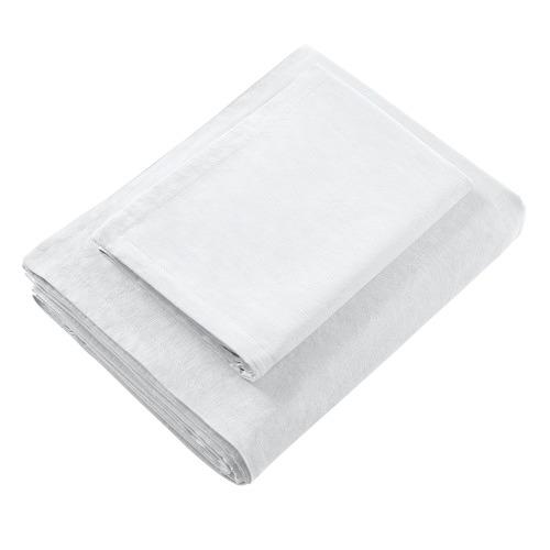 Bianca White Wellington Linen-Blend Quilt Cover Set