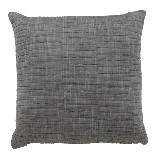 Bianca Charcoal Cambridge Cotton Square Cushion