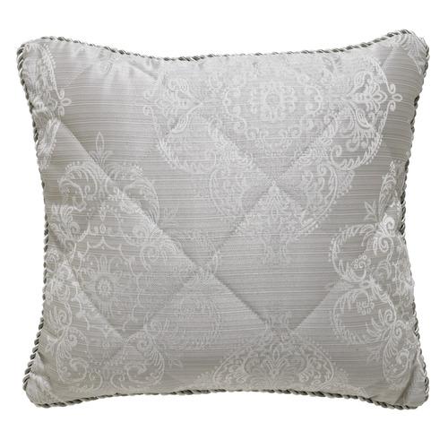 Bianca Silver Eleanor Square Cushion