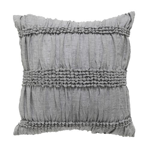 Bianca Grey Giana Cotton Square Cushion
