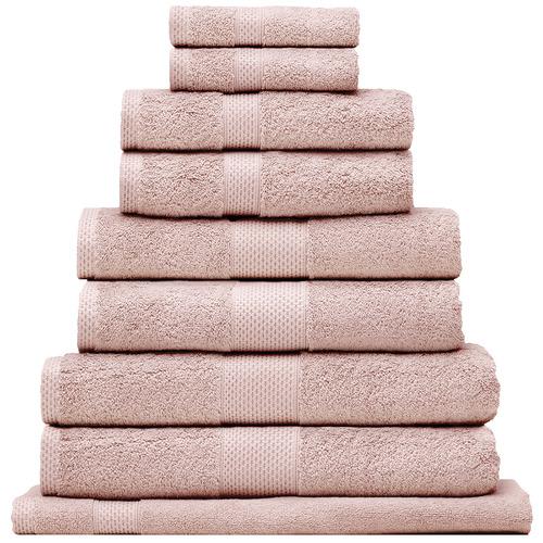 Bianca 9 Piece Reid Turkish Cotton Bath Towel Set