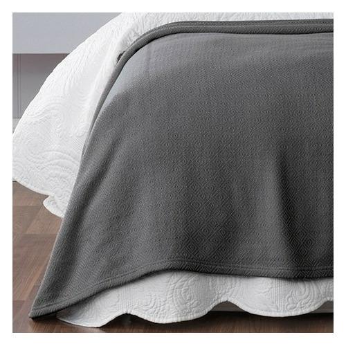 Bianca Coal Norwood Cotton Blanket