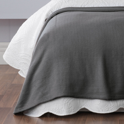 Bianca Coal Norwood Cotton Blanket
