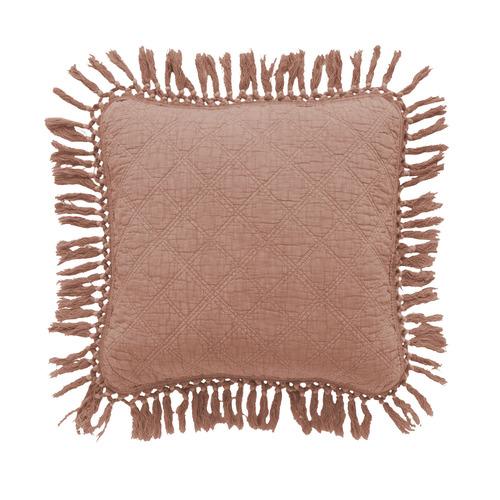 Bianca Blush Keira Cotton Square Cushion