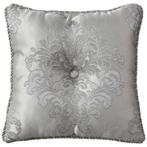 Bianca Silver Tanaquil Embroidered Cushion