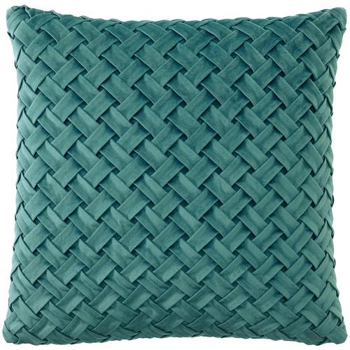 Bianca Basket Weave Venice Velvet Cushion