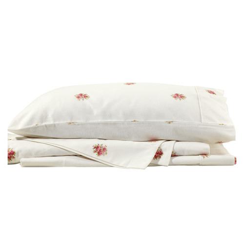 French Bouquet Flannelette Cotton Sheet Set