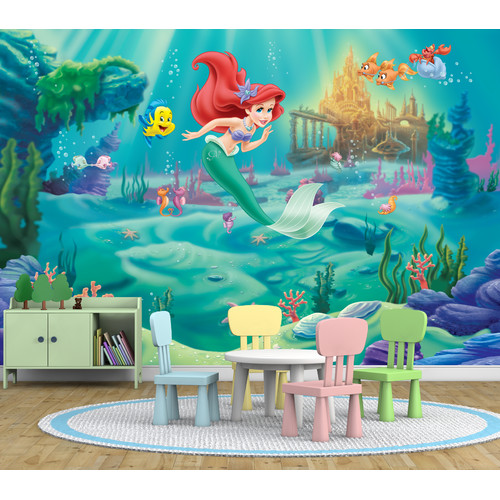 Pro Art Princess Under the Sea Full Wall Mural