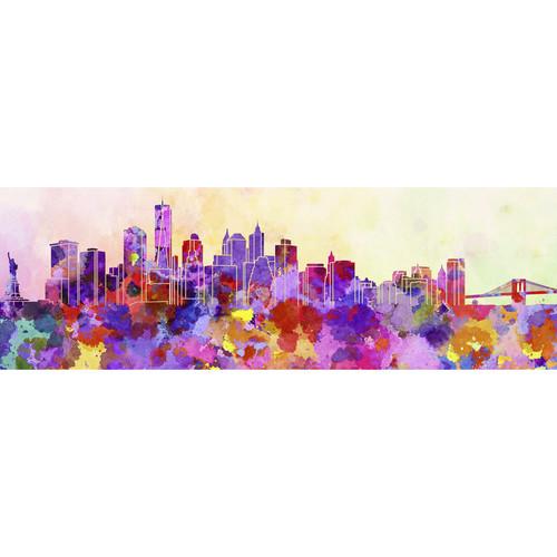 3 Piece Painting On Canvas Wall Art Nyc Street Lights New: New York Skyline Watercolour