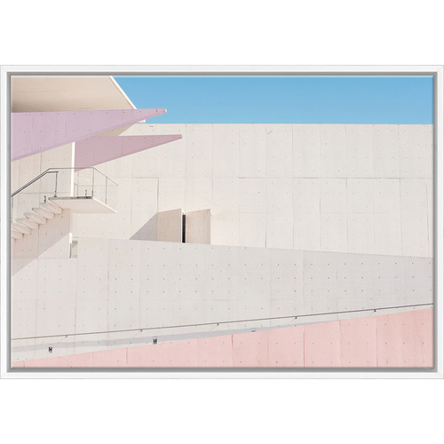 Art Illusions LA Building Blush Print
