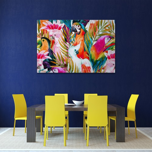 Art Illusions Parrots & Palms Canvas