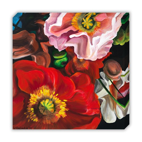Red Poppy Joie Canvas Wall Art