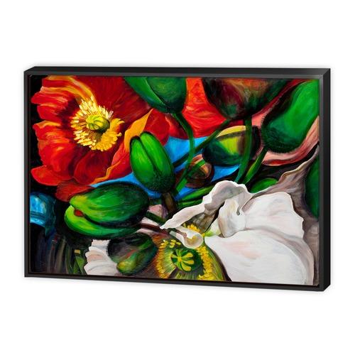 Art Illusions Singing Poppies Canvas Wall Art