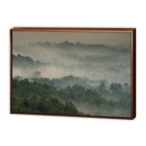 Art Illusions Temple in the Mist Canvas Wall Art