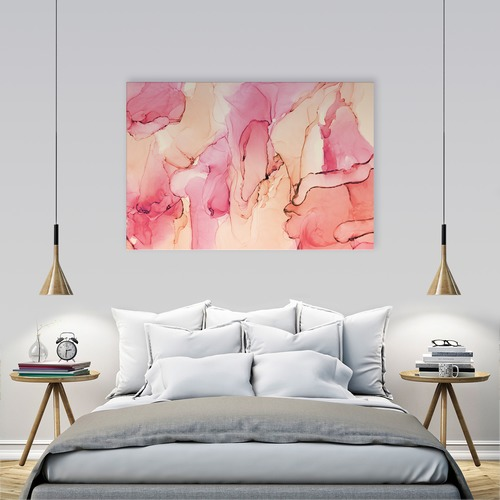Art Illusions Peach Hamilton Waters Canvas Wall Art by Emma Thomas