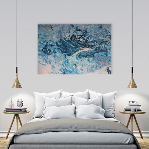 Art Illusions Blue Hydrangea Canvas Wall Art