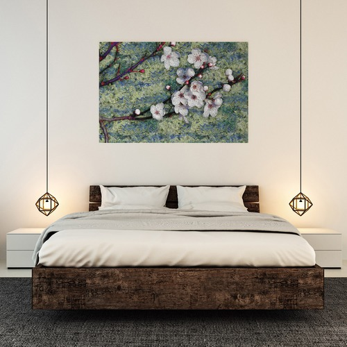 Art Illusions Almond Flowers Canvas Wall Art