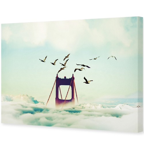 Art Illusions Above the Clouds Canvas Wall Art