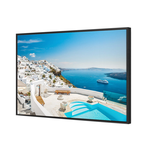 Art Illusions Santorini Heaven Canvas Wall Art