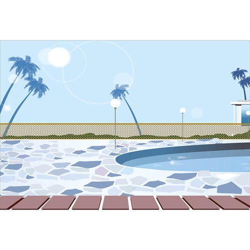 Art Illusions Outdoor Pool Concept Canvas Wall Art