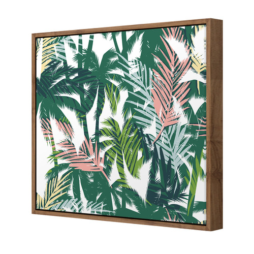 Art Illusions Tropical Pastel Palms Canvas Wall Art