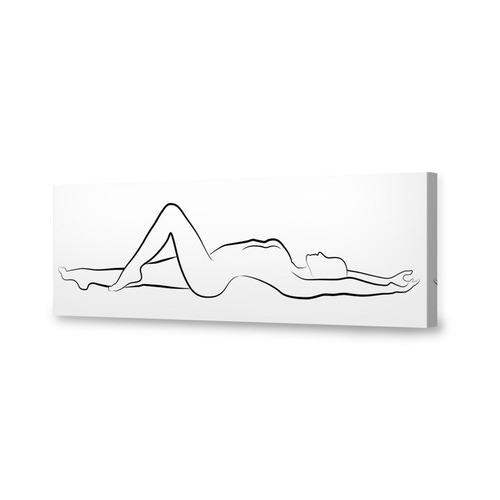 Art Illusions Nude Lying Canvas Wall Art