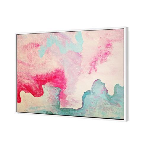 Art Illusions Powder Pink Canvas Wall Art