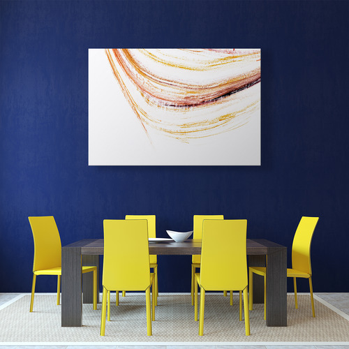 Art Illusions Amber Curves Canvas Wall Art