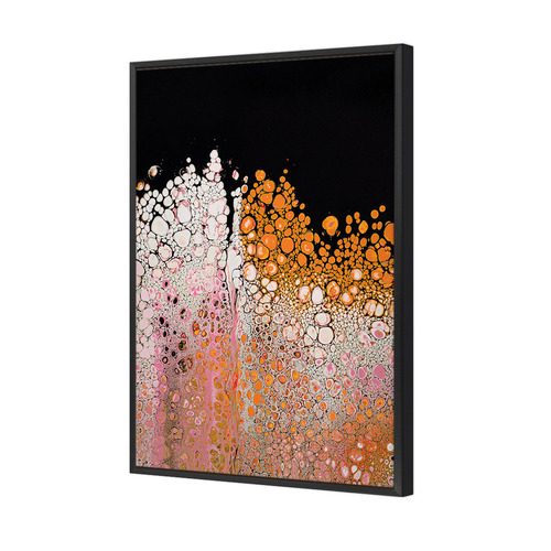 Art Illusions Pink Effervescent Canvas Wall Art