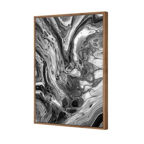 Art Illusions Black & White Lime Fusion Canvas Wall Art