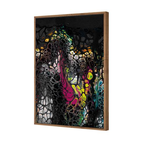 Art Illusions Neon Opal Ridge Canvas Wall Art by Jacqui G