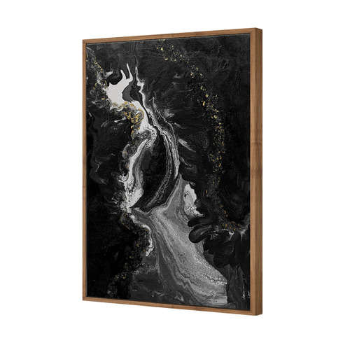 Art Illusions Black & White Pearl Drop Canvas Wall Art by Jacqui G