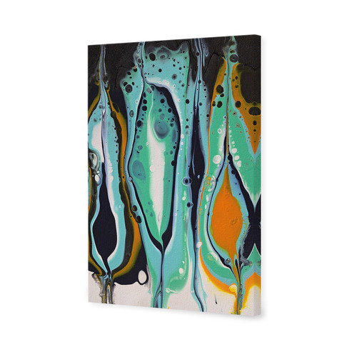 Art Illusions Squid Ink Splice Canvas Wall Art