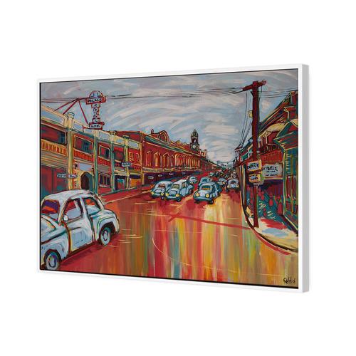 Art Illusions Brisbane Street Canvas Wall Art
