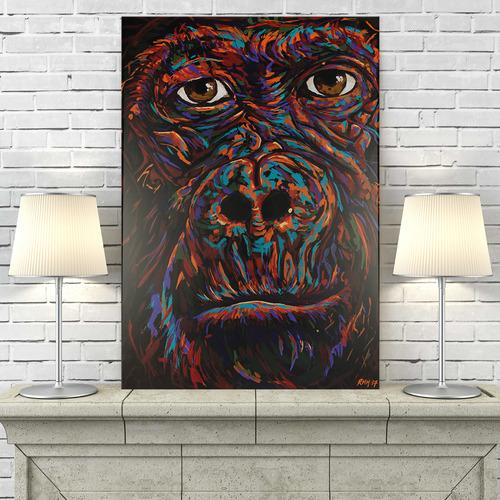 Art Illusions Gorilla Canvas Wall Art